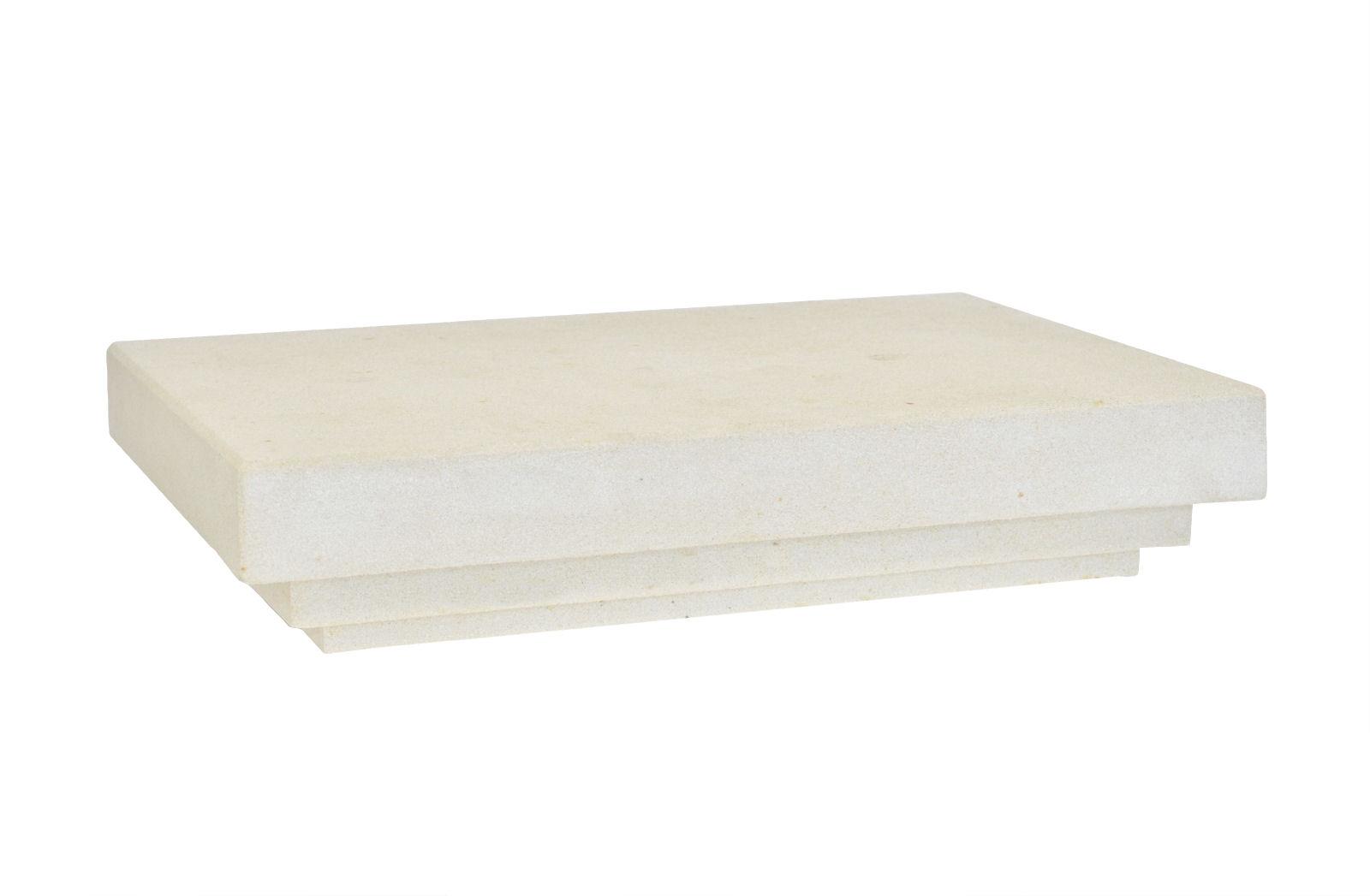 Fensterbank außen FBA1 100x25x6 cm Sandstein grau mit Profil und ...