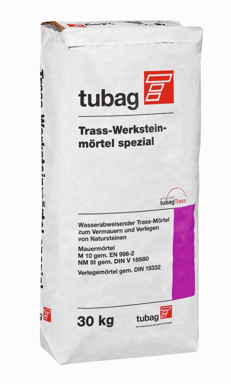 Trass Werksteinmortel Spezial Tubag Wasserabweisend Teichbau
